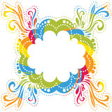 Vector colorful frame Royalty Free Stock Images