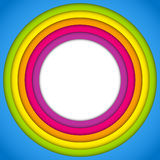 Colorful Frame with Circles Rainbow Royalty Free Stock Image