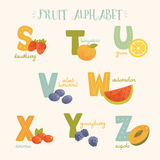 Vector colorful fruit alphabet. Stock Photo