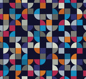 Vector colorful geometric background, squared abstract futuristi Stock Image