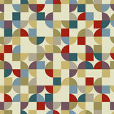 Vector colorful geometric background, squared pockmarked abstrac Royalty Free Stock Images