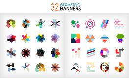 Vector colorful geometrical info banners Royalty Free Stock Photo