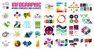 Vector colorful geometrical info banners. Infographic templates and business presentation layouts Stock Image