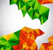 Vector colorful geometrical shapes Stock Photography