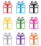 vector colorful gift box symbols Stock Photo
