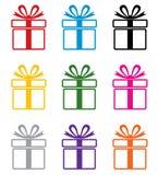 vector colorful gift box symbols
