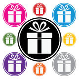 vector colorful gift box symbols Royalty Free Stock Photo