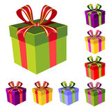 Vector colorful gift boxes Royalty Free Stock Images