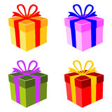 Vector colorful gift boxes Royalty Free Stock Photos