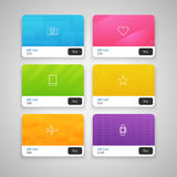 Vector Colorful Gift Cards Stock Photo