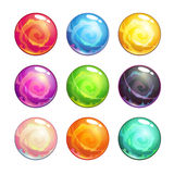 Vector colorful glassy magic balls set Stock Photos