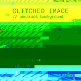 Vector colorful glitch art background Stock Photos