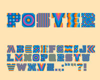 Vector Colorful Graphic Alphabet Set Stock Image