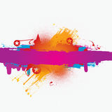 Vector colorful grunge banner Stock Photos