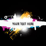 Vector Colorful Grunge Banner. Royalty Free Stock Image