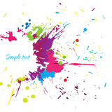 Vector colorful grunge banner. With ink splashes Stock Image