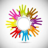 Vector Colorful Hands Royalty Free Stock Image