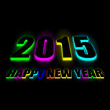Vector colorful 2015 Happy New Year. Stock Photos