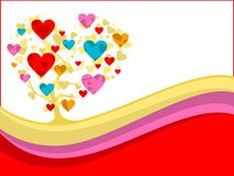 Vector colorful heart tree Royalty Free Stock Photos