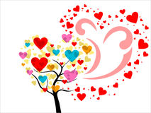 Vector colorful heart tree Stock Images