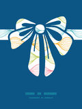 Vector colorful horizontal ogee gift bow Stock Photo