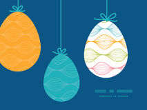 Vector colorful horizontal ogee hanging Easter Stock Images