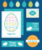 Vector colorful horizontal ogee set of Easter Stock Photography