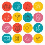 Vector colorful icons set  on white background. Royalty Free Stock Photo