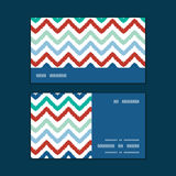 Vector colorful ikat chevron horizontal stripe Royalty Free Stock Photography