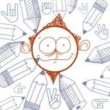 Vector colorful illustration of cartoon boy  Stock Photo