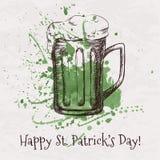 Vector colorful illustration of hand drawn sketch of beer mug Stock Photo