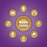 Vector colorful illustration with music icons Stock Photo