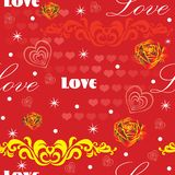 Seamless valentines day pattern 9 stock illustration