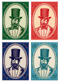 Vector colorful illustrations with a gentleman and a variety of accessories Stock Image