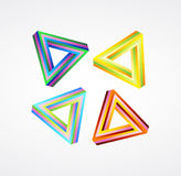 Vector colorful impossible shapes Stock Image