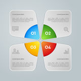 Vector colorful info graphic Royalty Free Stock Photo