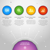 Vector colorful info graphic Royalty Free Stock Photography