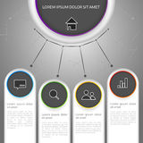 Vector colorful info graphic Stock Images