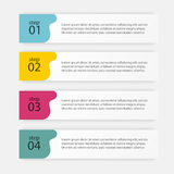 Vector colorful info graphics for your business presentations. C Stock Images