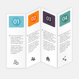 Vector colorful info graphics for your business presentations. C Stock Image