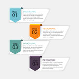 Vector colorful info graphics for your business presentations. C Royalty Free Stock Photo