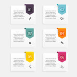 Vector colorful info graphics for your business presentations. C Royalty Free Stock Photos