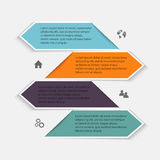 Vector colorful info graphics for your business presentations. C Royalty Free Stock Image