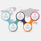 Vector colorful info graphics for your business presentations. C Royalty Free Stock Images