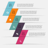 Vector colorful info graphics for your business presentations. C Stock Photos