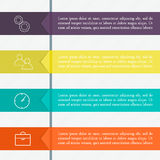 Vector colorful info graphics for your business presentations. Can be used for info graphics, graphic or website layout vector, numbered banners, diagram Stock Photos