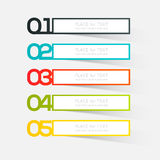Vector colorful info graphics for your business presentations. Can be used for info graphics, graphic or website layout vector, numbered banners, diagram Stock Photo