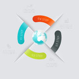 Vector colorful info graphics for your business presentations. Can be used for info graphics, graphic or website layout vector, numbered banners, diagram Royalty Free Stock Image