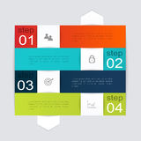 Vector colorful info graphics for your business presentations. Stock Photo