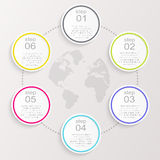 Vector colorful info graphics for your business presentations. Can be used for info graphics, graphic or website layout vector, numbered banners, diagram Royalty Free Stock Images
